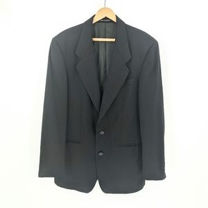 YSL | Black 2 Button Lapel Sport Jacket Blazer 42R